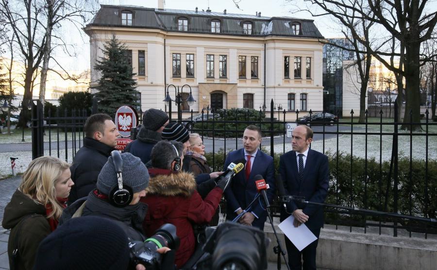 Posłowie PO: Krzysztof Brejza i Borys Budka