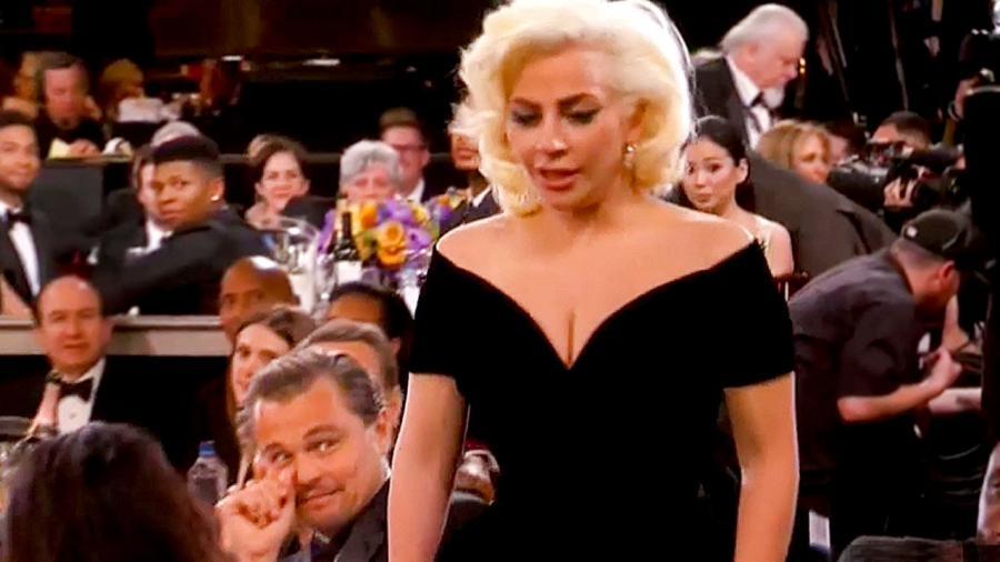 Lady Gaga szturchnęła Leonardo Di Caprio