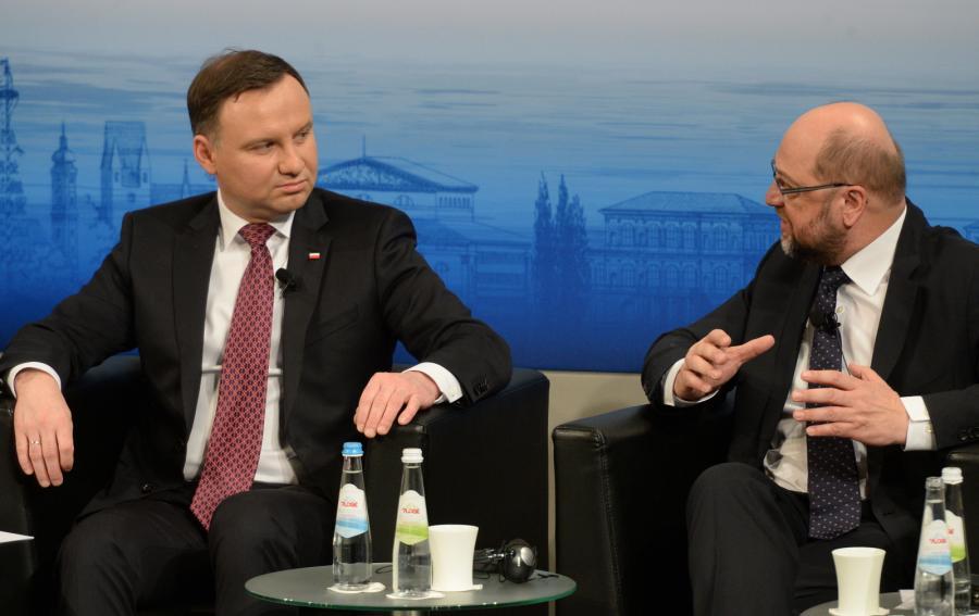 Andrzej Duda i Martin Schultz