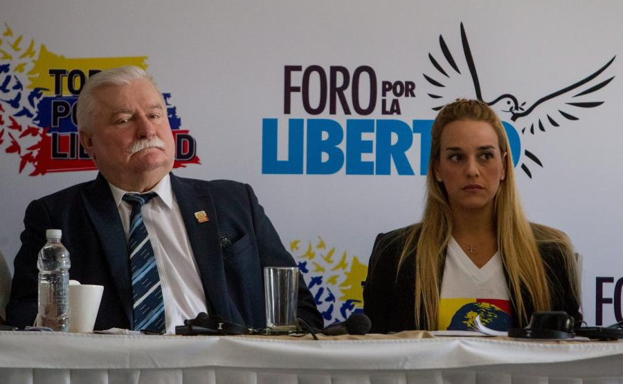 Lech Wałęsa w Wenezueli