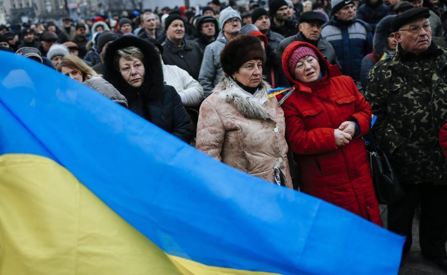 Antyrządowy protest na Ukrainie