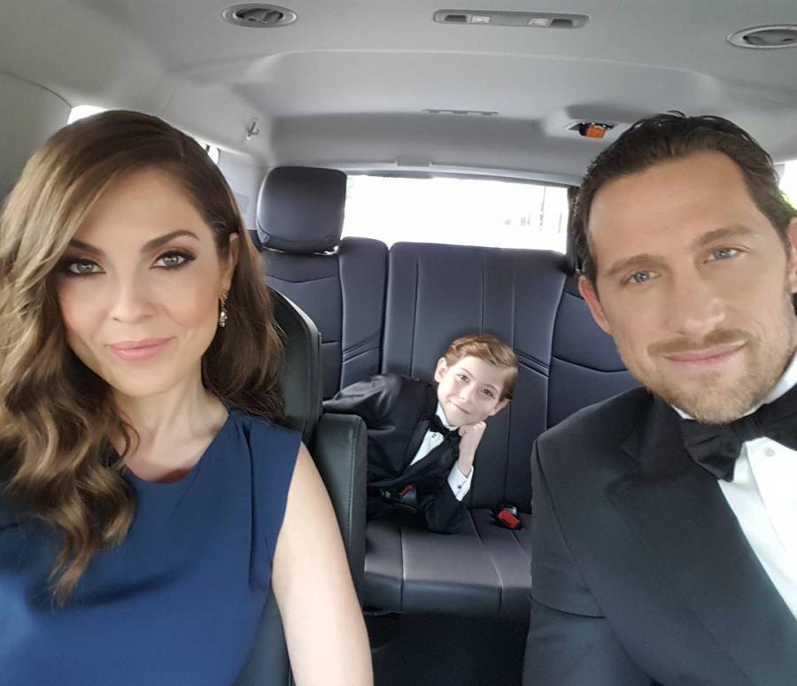 Jacob Tremblay z rodzicami w drodze na oscarową galę