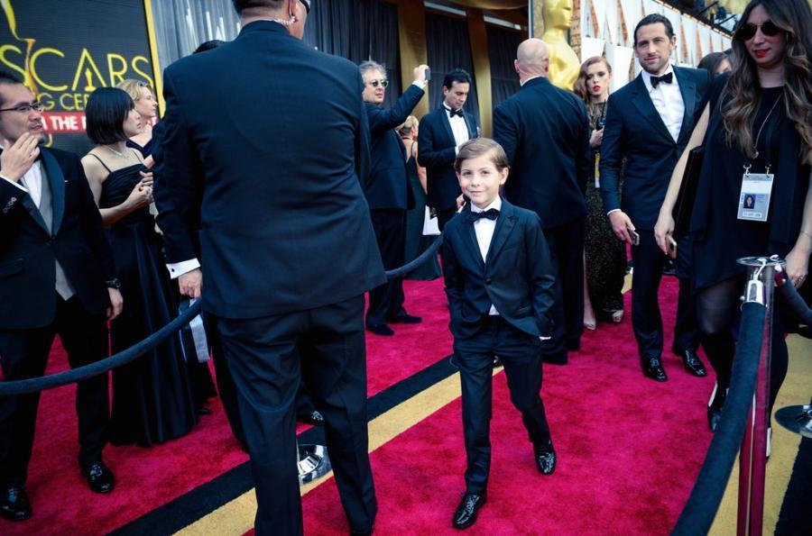 Jacob Tremblay gwiazdą na czerwonym dywanie gali Oscarów 2016