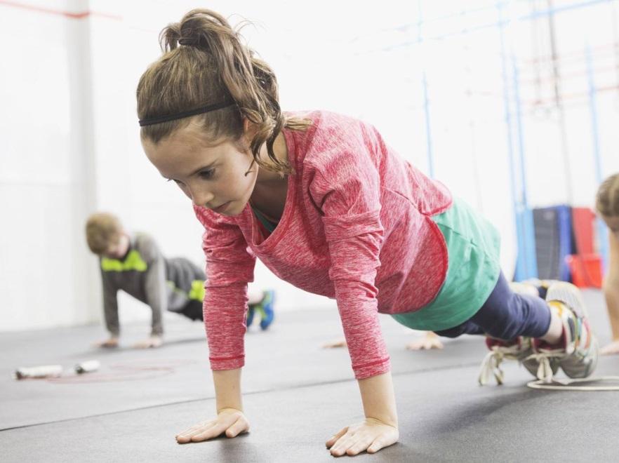 Dziecko na treningu