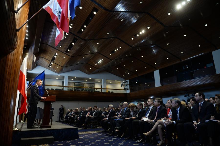 Prezydent RP Andrzej Duda w The National Press Club w Waszyngtonie