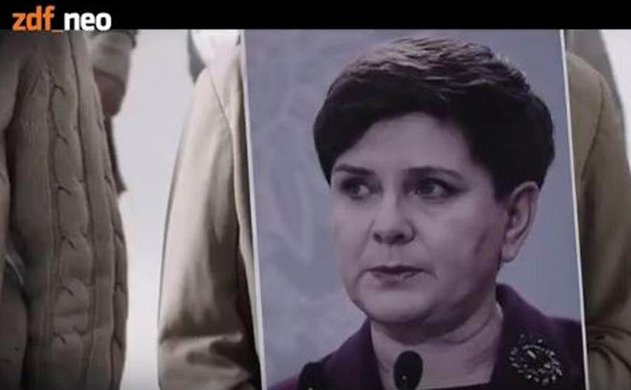 Beata Szydło w klipie stacji ZDFneo