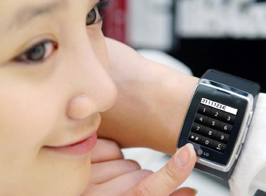 LG przedstawia: Telefon komórkowy na rękę