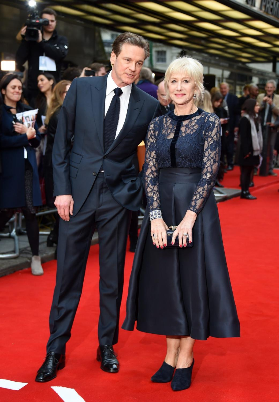 Helen Mirren pod ramię z Colinem Firthem