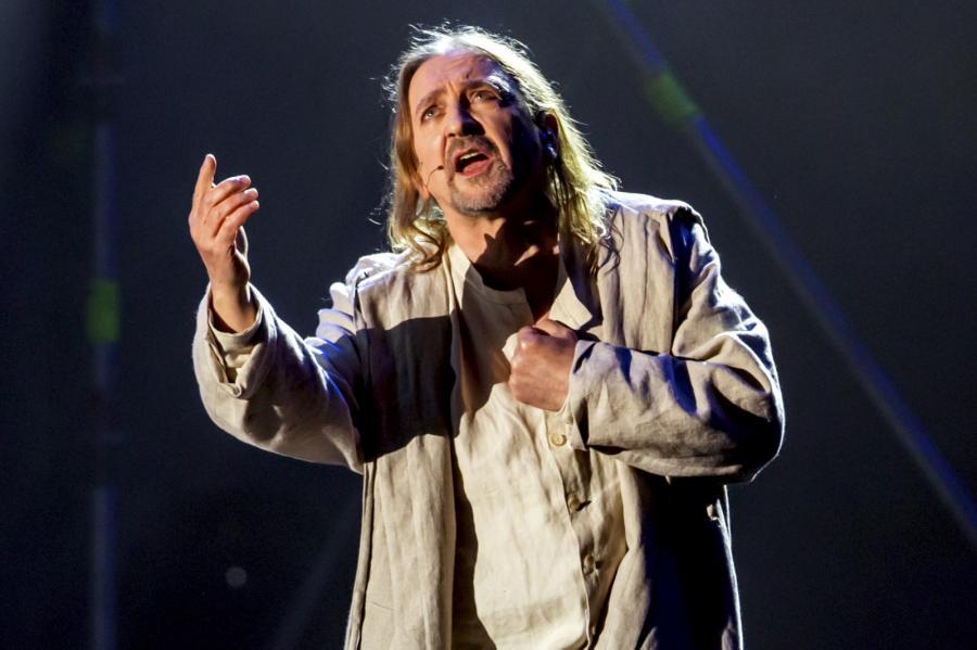 """Musical """"Jesus Christ Superstar"""" Andrew Lloyda Webbera, zrealizowany przez Teatr Muzyczny w Poznaniu wystawiono na Inea Stadionie w ramach obchodów jubileuszu 1050-lecia Chrztu Polski"""