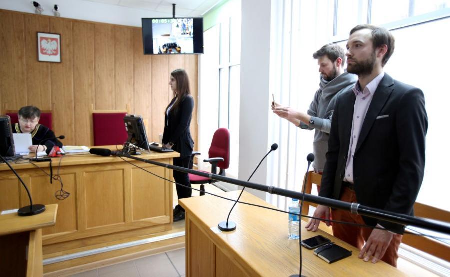 Obwiniony Marek Tatała podczas ogłaszania wyroku przez sędzię Grażynę Jankowską