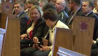 Premier Beata Szydło na mszy w kościele w Doylestown