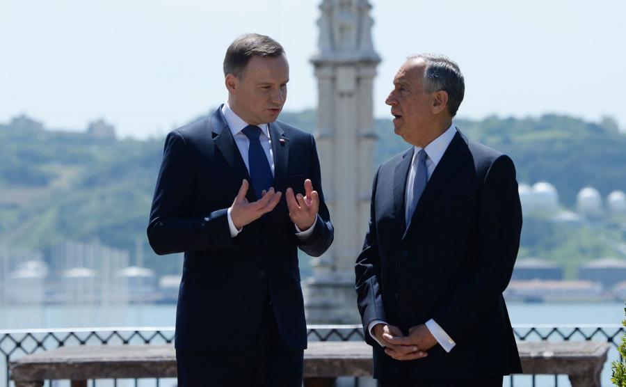 Prezydent Andrzej Duda i prezydent Portugalii Marcelo Rebelo de Sousa