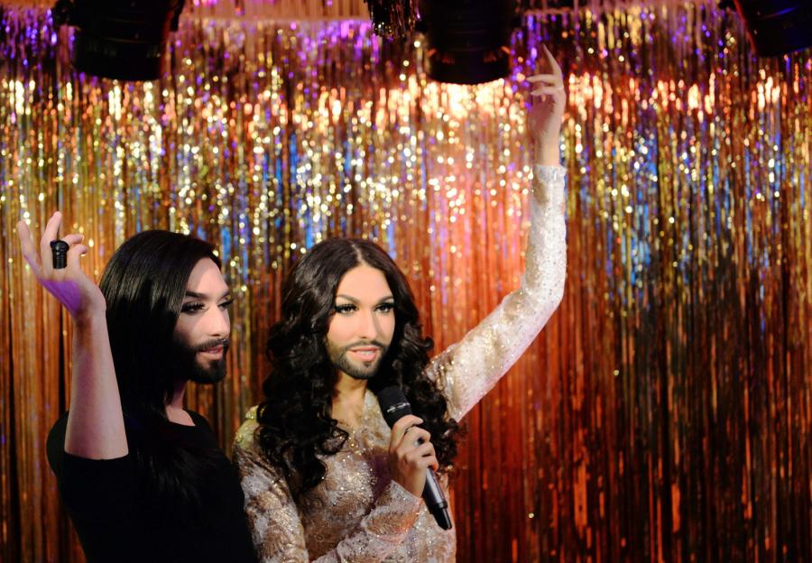Conchita Wurst ma swoją figurę woskową w muzeum Madame Tussauds w Berlinie