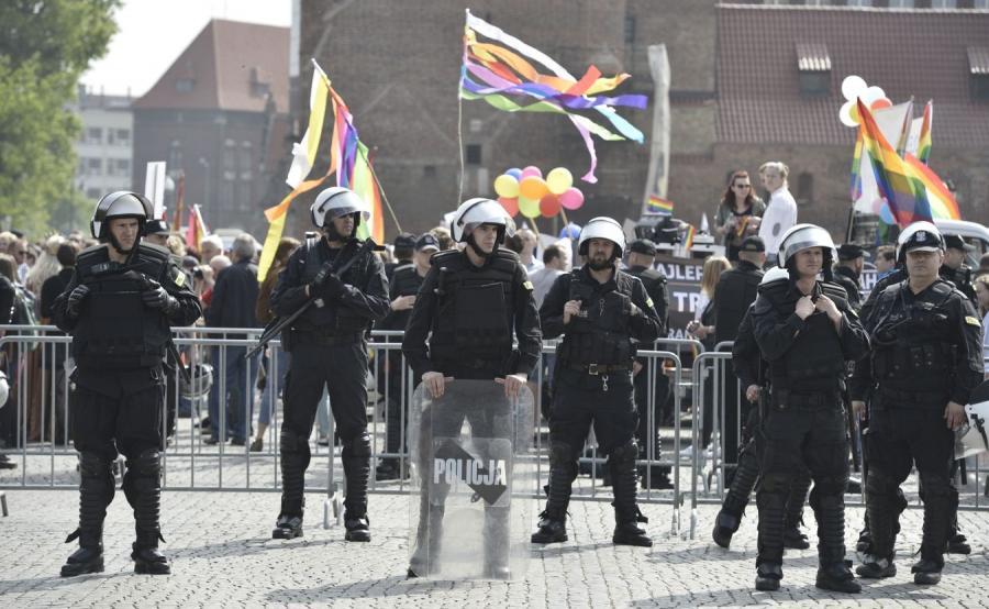 Marsz Równości ochraniany przez policję