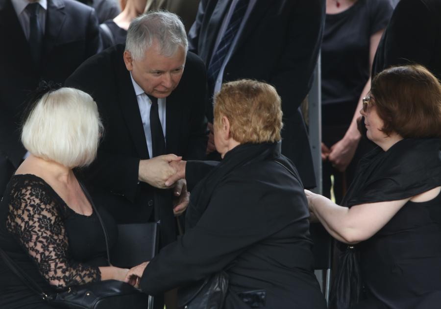 Jarosław Kaczyński na pogrzebie Andrzeja Urbańskiego