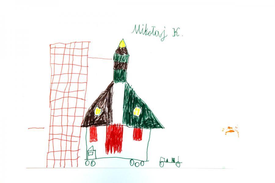 Autor rysunku: Mikołaj Kamiński, lat 7