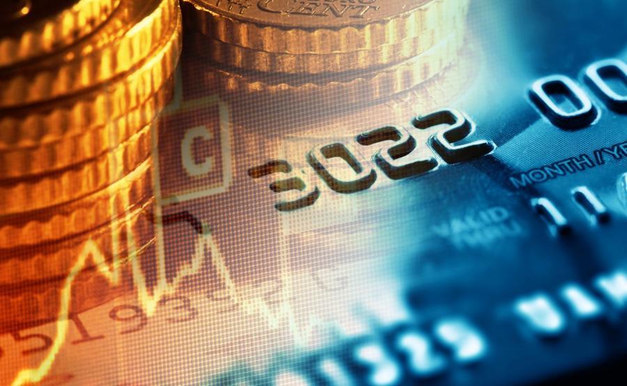 Karta kredytowa i monety