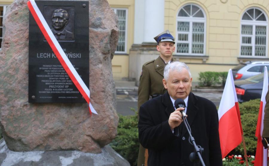 Tablica ku czci Lecha Kaczyńskiego