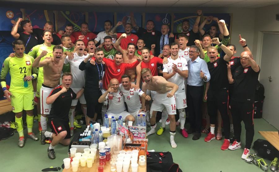 Polska szatnia po meczu
