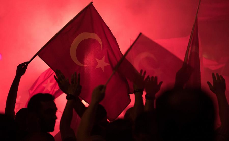 Demonstracja poparcia dla Erdogana