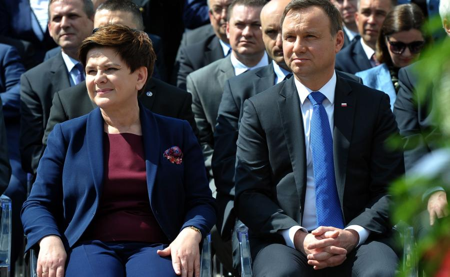 Beata Szydło i Andrzej Duda
