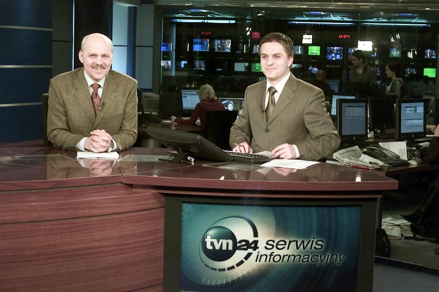 Bogdan Rymanowski i Tomasz Zubilewicz w TVN24