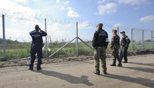 Polscy pogranicznicy na Węgrzech