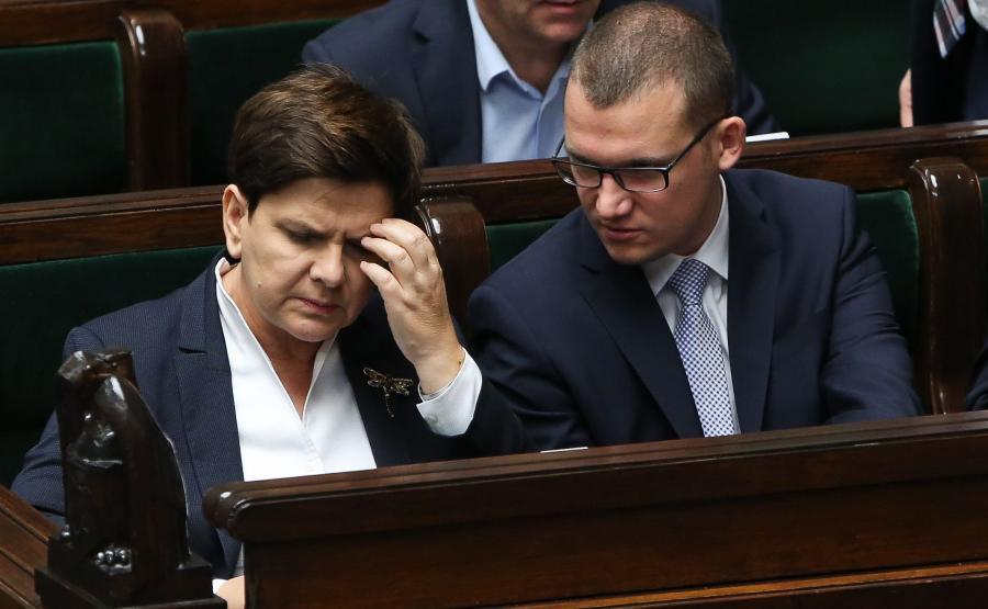 Beata Szydło i Paweł Szefernaker