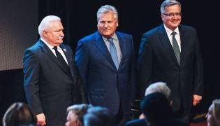 Lech Wałęsa, Aleksander Kwaśniewski i Bronisław Komorowski