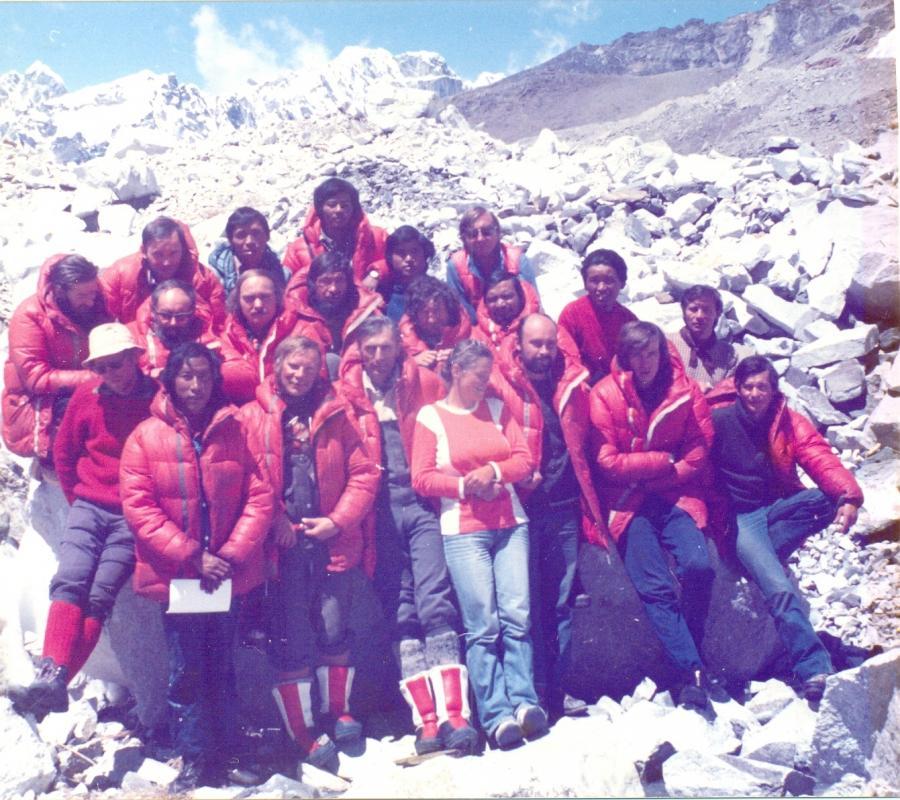 Monika Rogozińska z wyprawą na Mount Everest, maj 1980