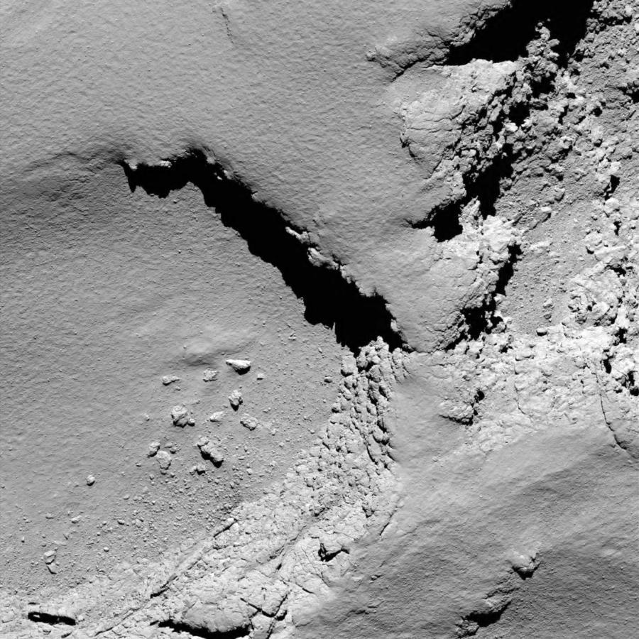 Powierzchnia komety z wysokości 5,8 km
