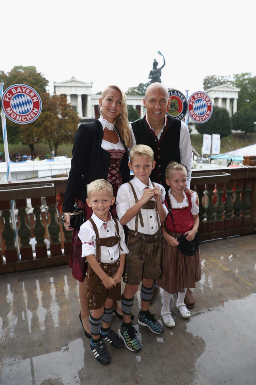 Arjen Robben z rodziną