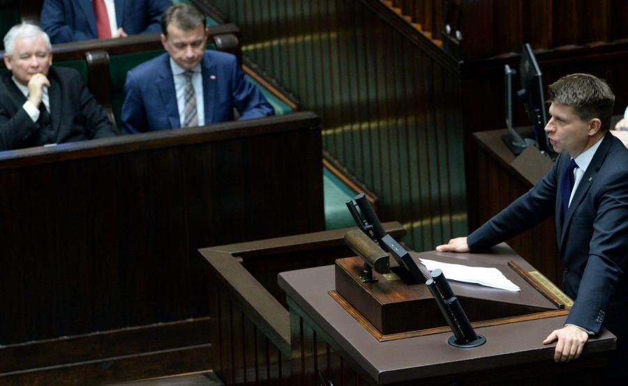 Jarosław Kaczyński i Ryszard Peru w Sejmie