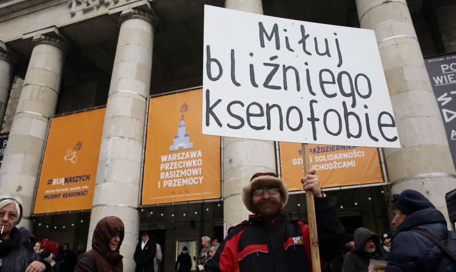Protest przeciwko rasizmowi i ksenofobii