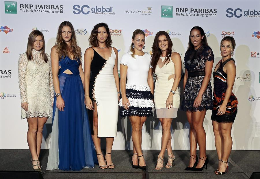 Simona Halep, Angelique Kerber, Agnieszka Radwanska, Karolina Pliskova, Garbine Muguruza, Madison Keys, Dominika Cibulkova