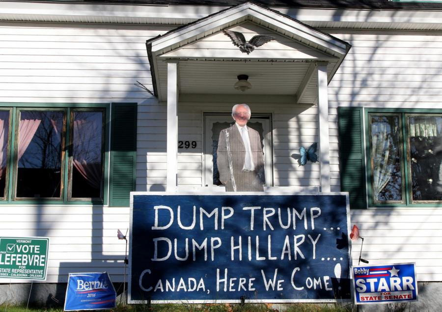 Transparent przed domem
