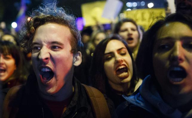 NOWY JORK. PROTESTY PRZECIWKO WYBOROWI DONALDA TRUMPA NA PREZYDENTA