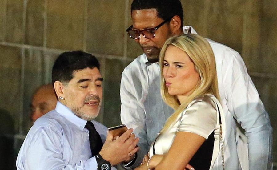Diego Armando Maradona na pożeganiu Fidela Castro