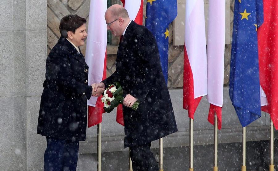 Beata Szydło i Bohuslav Sobotka