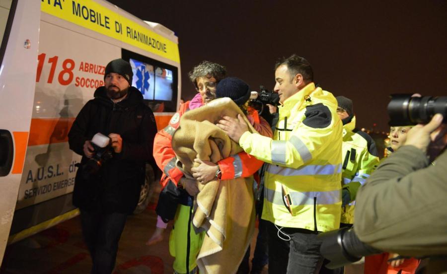 Jedno z uratowanych dzieci