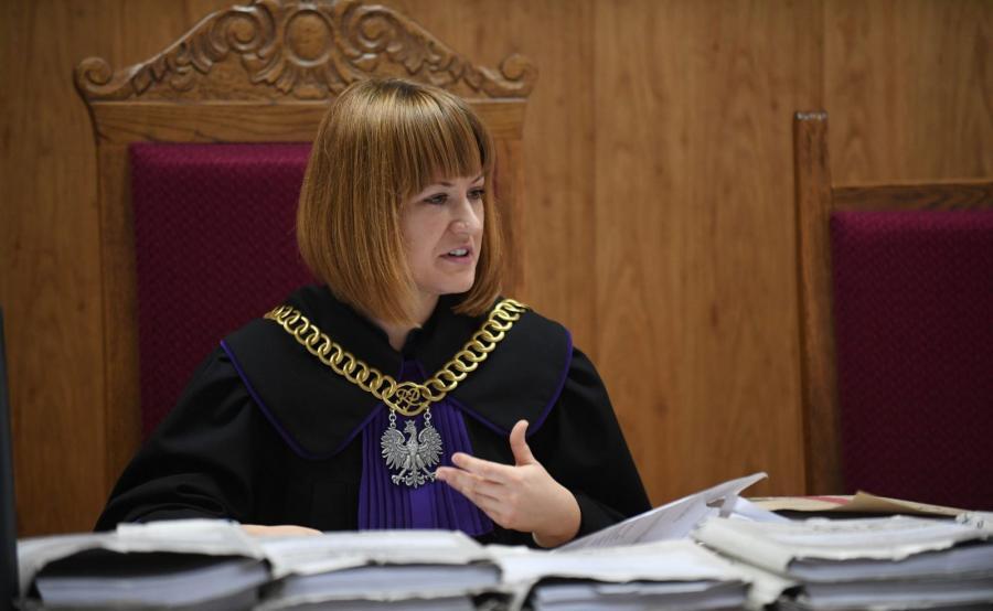 Sędzia Marta Pilśnik na sali rozpraw
