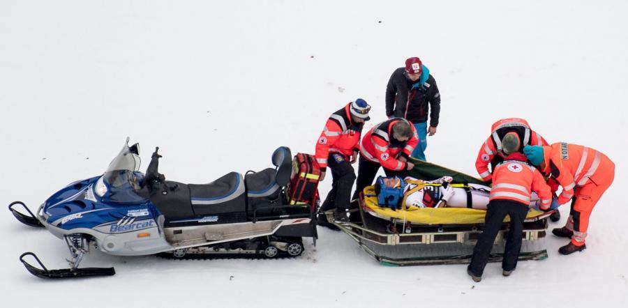 Gregor Schlierenzauer doznał urazu klatki piersiowej i ma stłuczone udo