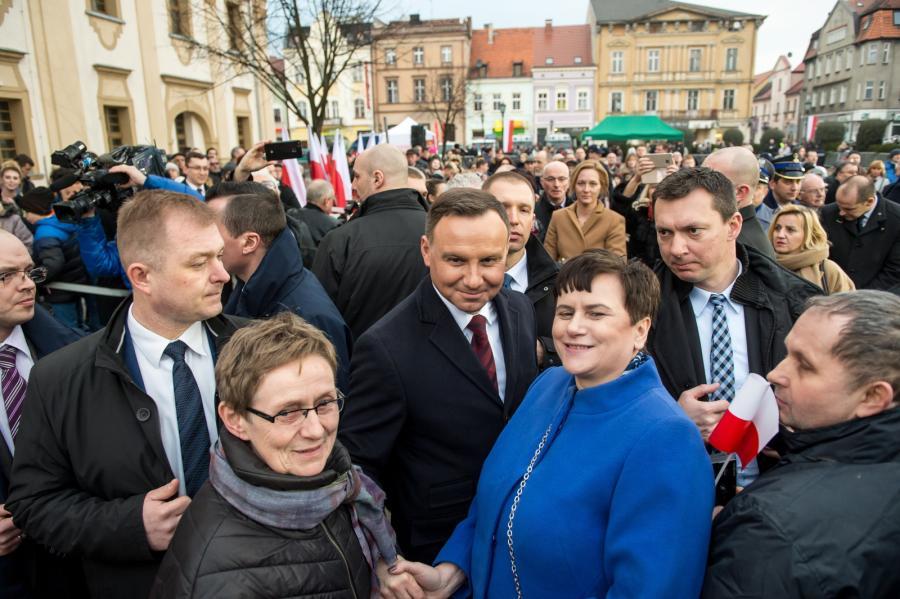 Andrzej Duda wśród mieszkańców