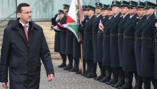 Wicepremier Morawiecki podczas uroczystości inauguracji działalności Krajowej Administracji Skarbowej oraz nadania jej sztandaru