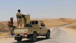Kurdyjscy bojownicy pod Mosulem