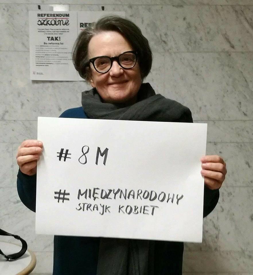 Agnieszka Holland popiera Strajk Kobiet 8 marca / zdjęcie z profiul Strajk Kobiet