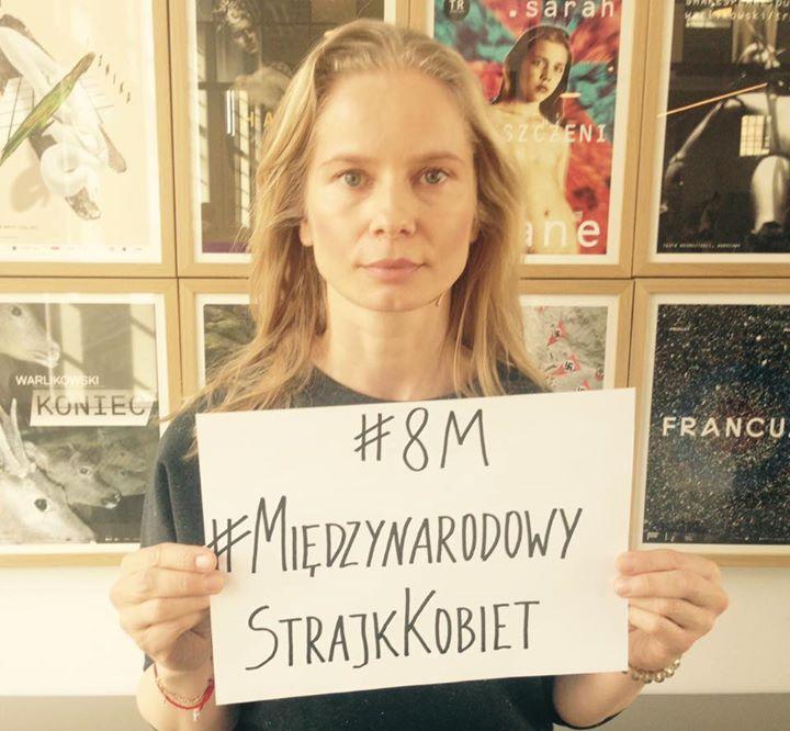 Magdalena Cielecka popiera Strajk Kobiet 8 marca / zdjęcie z profiul Strajk Kobiet